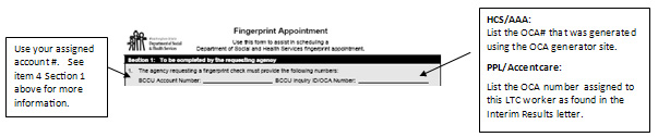 Fingerprint Appointment for Private HCA