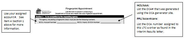 Fingerprint Appointment for AFH, ALF, NH