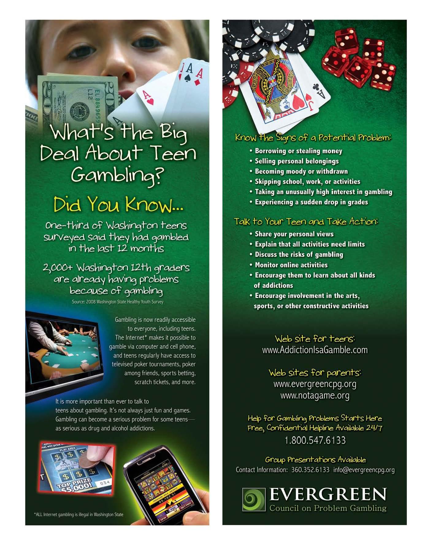 Teenage gambling facts