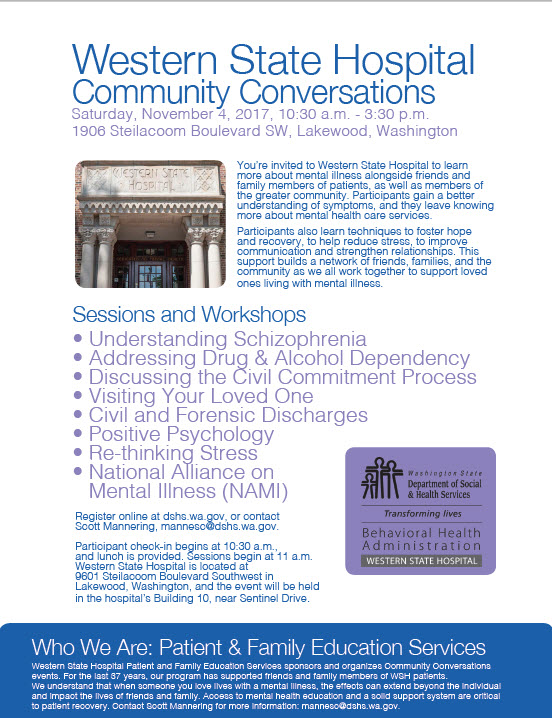 2017 Fall Community Conversations Flyer