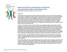 Image of report cover for Children Behavior Health Dashboard