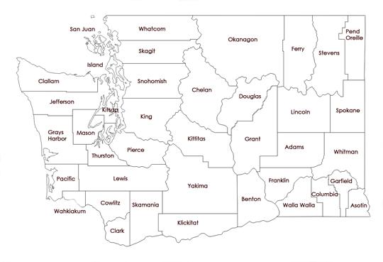 Washington State County Map