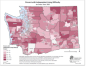 Cognitive Difficulty (ACS data by Census Tract)