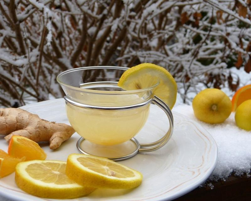 Ginger drink for flu